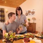 Eating in atyour luxury lodge at Faulkers Lakes