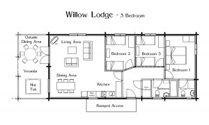 Willow Lodge, Faulkers Lakes.